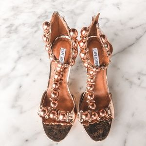 NEW Rose Gold Ankle Strap Heels